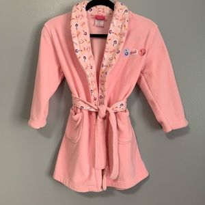 Barbie Official Pink Girls Robe Size 4-7 C5